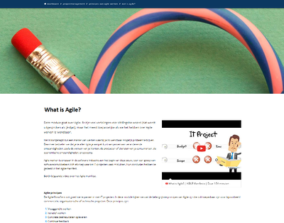 Edubook Project management - agile